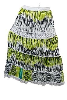 5dadebc94c Indiatrendzs Women Skirts Cotton Green Bohemian Summer Long Skirt