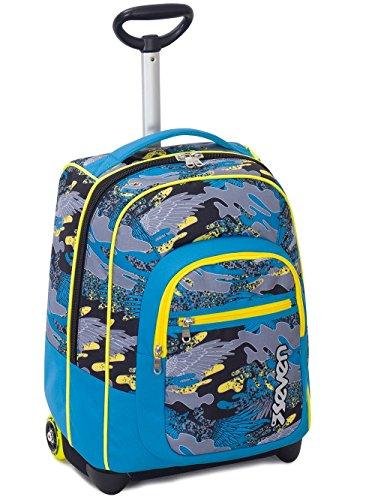 Trolley fit seven , alary , blu  , 35 lt , 2in1 zaino  con spallacci a scomparsa , scuola & viaggio