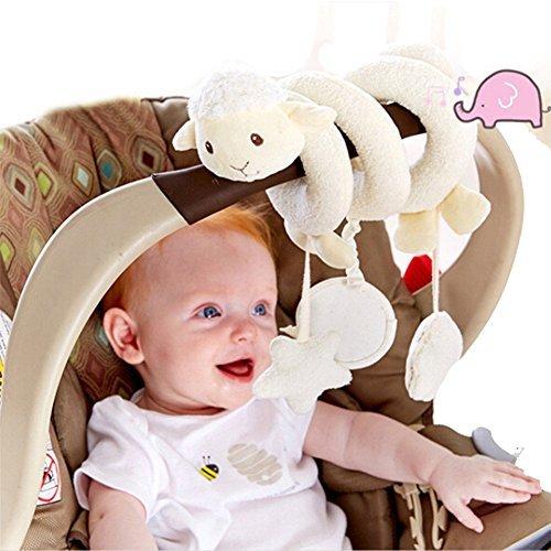 8m Kleinkindspielzeug Plüschtiere Kinderwagenkette H?ngende Sprach Musik Spielzeug Mobile Schaf Spielzeug für Baby