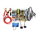 a2zteco 12V/24V Lead Acid Battery Smart Charger PCB/Circuit Board DIY Kit (Including Cables and Crocodile clips) with LCD Display Meter
