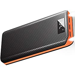 X-DRAGON Caricabatterie Portatile 20000mAh 3 Porte USB Power Bank Batteria Esterna con Display LCD per iPhone, iPad, Samsung, Huawei, Smartphone, Android, Universale Cellulare - Arancia