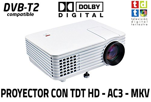 Proyector con TDT Luximagen SV100 Blanco con TDT HD, USB, HDMI, VGA, AC3...