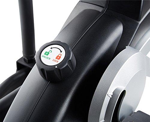 MAXXUS® CROSSTRAINER CX 7.4, Ellipsentrainer mit 5-fach Schrittlängenverstellung! Flache, elliptische Bewegung wie beim Laufen. Elektr. gesteuertes Magnetbremssystem, Trainingsprogramme, HRC-Programm, Schienensystem für sanften Lauf. Auf unterschiedliche Körpergrößen einstellbare Schrittlänge. - 6