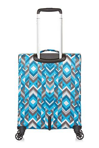 REVELATION Weightless D3J – 4 Wheel 55cm Cabin Pattern Blue 1.5kg Maleta, 56 cm, 34 liters, Azul (Pattern Red)