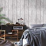 ADDFLOWER Retro Nostalgic 3D grigio antico imitazione legno grano carta da parati industriale vento imitazione legno ristorante negozio di abbigliamento in stile nordico carta da parati, B