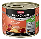 Animonda GranCarno Hundefutter Sensitive Adult Reines Huhn + Kartoffeln, 6er Pack (6 x 200 g)