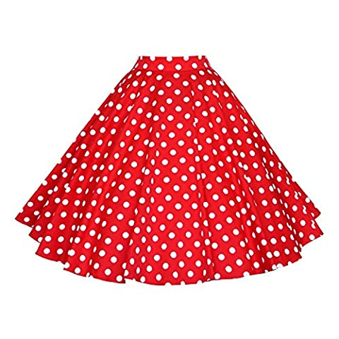 Gigileer Vintage Women's Pleated Skirt Swing 1950s Inspired Circle Skirts