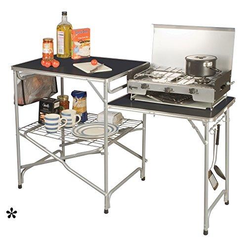 Siehe Beschreibung Campingküche mit erweiterter Arbeitsfläche einfacher Aufbau zusammenfaltbar • Campingschrank Faltschrank Campingzubehör Outdoor Kochen Zelt Küche