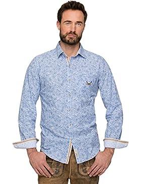 Stockerpoint Trachtenhemd Blumen James Blue