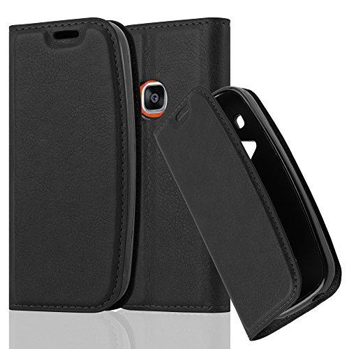 Cadorabo Hülle für Nokia 3310 - Hülle in Nacht SCHWARZ – Handyhülle mit Magnetverschluss, Standfunktion und Kartenfach - Case Cover Schutzhülle Etui Tasche Book Klapp Style