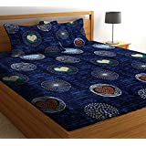 ZCI Bedsheet for Double Bed_ Cotton King Size 120 TC (Multicolor_Set of 1 Double Bed Sheet with 2 Pillow Covers)_Multi_08