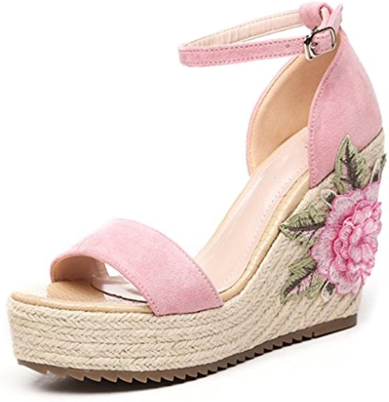 Ren Chang Chang Chang Jia Shi Pin Firm Sandali Sandali per le scarpe da donna Sandali con pendenti da donna stile etnico estivi...   The Queen Of Quality  972970