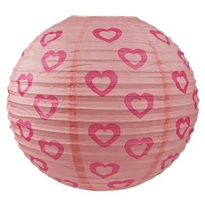 rosa Herzen Laterne Kinder Papierlampenschirm Anhänger