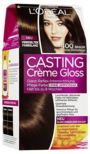 L\'Oréal Paris Casting Crème Gloss Glanz-Reflex-Intensivtönung 400 in Braun