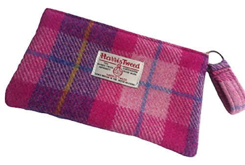 Harris Tweed Edinburgh  Harris Tweed woman's make-up purse,  Damen Kulturtasche pink plaid (Plaid Pink)