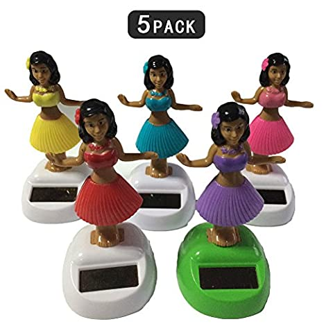 Maphissus Solar Powered Dancing Hula Girl Swinging Bobble Toy Gift