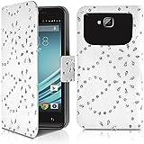 Seluxion - Etui Diamant Universel S Blanc pour Smartphone Yezz Andy 4EL2 Lte