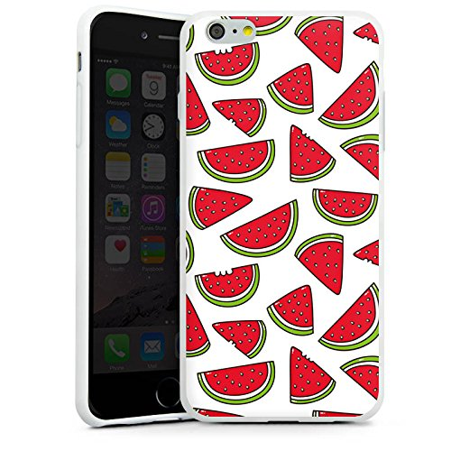 Apple iPhone X Silikon Hülle Case Schutzhülle Melone Sommer Essen Silikon Case weiß