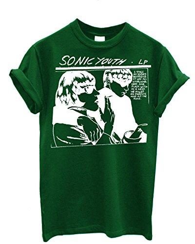 Herren-T-Shirt Sonic Youth - T-Shirt 100% Baumwolle LaMAGLIERIA Grün