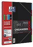 OXFORD 400019524 Organiserbook Studium 5er Pack mit 4 Farben Digitaler