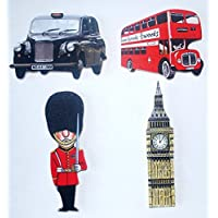 Londra in legno Jumbo Magnete