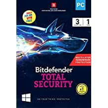 BitDefender Total Security Latest Version (Windows) - 3 User, 1 Year (Activation Key Card)