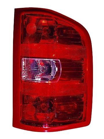 Chevy Silverado 1500 07-10 (¡®10 1st Design) / ¡®12 SL,SLE Model / ¡®09-10 Hybrid (¡®10 1st Design) / ¡®11 2500 / 3500 Truck Single Rear Wheels / ¡®07-10 2500 / 3500 HD SERS / GMC Sierra 1500 ¡®12 SL,SLE Model / ¡®07-10 2500 / 3500 (¡®10 1st Design) Dual Rear Wheels Tail Light Assembly Rh US Passenger Side