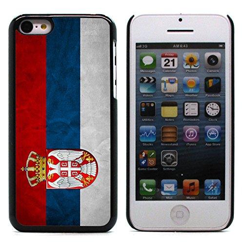 Graphic4You Vintage Uralt Flagge Von Israel Israelisch Design Harte Hülle Case Tasche Schutzhülle für Apple iPhone 5C Serbien Serbisch