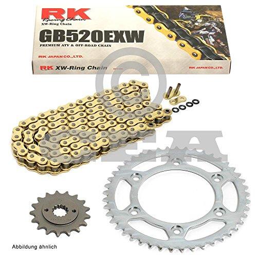 Preisvergleich Produktbild Kettensatz Derbi DRX 250 04-08,  Kette RK GB 520 EXW 94,  offen,  GOLD,  14 / 40