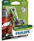 H11 Philips LongLife EcoVision Halogen 12V 55W 4x Life Fog Lights B1