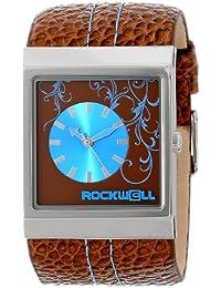 Rockwell tiempo Unisex MC115Mercedes con banda de piel marrón marrón/azul Dial reloj