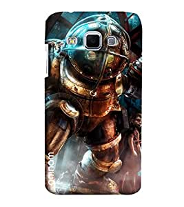 Omnam Super Willan Made Wearing Steel Clothes Printed Designer Back Case Samsung Galaxy J3