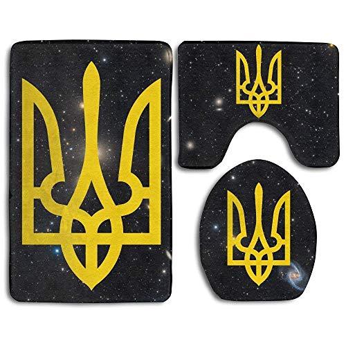 fengxutongxue Ukraine Tryzub Proud Ukrainian Fashion Bath Mat Set 3 Piece  Bathroom Mats Set Non- f65d9dc87a4e