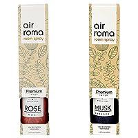 AirRoma Combo of Musk Fragrance Air Freshener Spray 200 ml & Rose Milk Fragrance Air Freshener Spray 200 ml