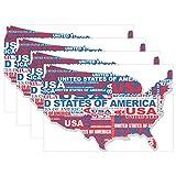 MUMIMI Carte aux USA Sets de Table résistant à la Chaleur Tapis de Table de Salle à Manger antidérapant Lavable Sets de Table 1pièce, Multicolore, 12x18inch...