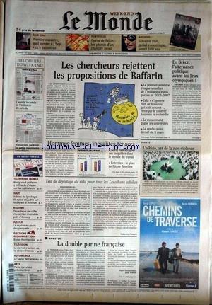 MONDE (LE) [No 18387] du 07/03/2004