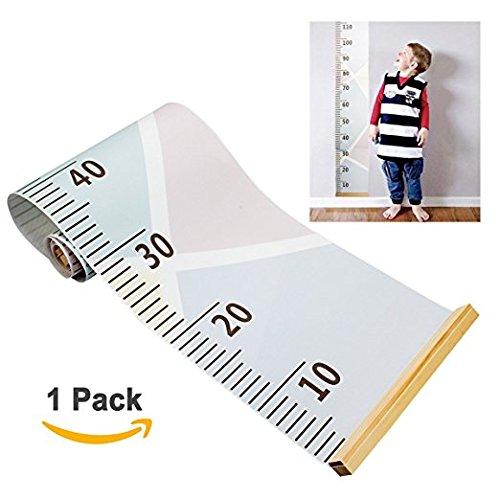 Baby-Diagramm an der Wand Lineal, Höhe amariver mit abnehmbarem Wachstum Chart, Raum-Dekoration, für Kinder Kinder Macaron-Stil, 79x 7,9Zoll (Höhe Der Wand)