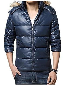 Nueva chaqueta con capucha informal invierno por la chaqueta de los hombres , blue , xxxl