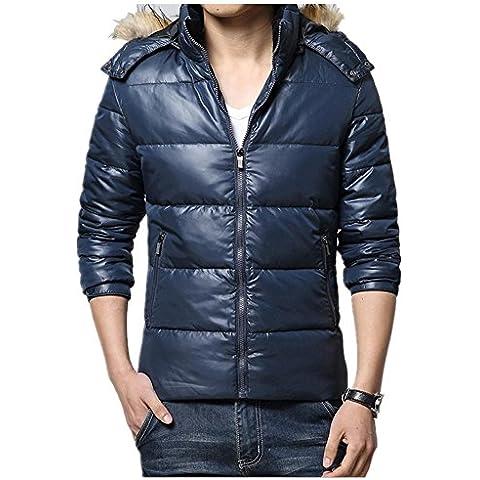 Nueva chaqueta con capucha informal invierno por la chaqueta de los hombres , blue , xxl