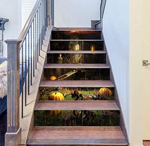 DFGTHRTHRT 3D Simulation Treppenaufkleber entfernbare Wasserdichte Wandaufkleber Schlafzimmer Wohnzimmer DIY Tapete Wandabziehbilder (Color : WLT006, Size : OneSize)