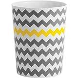 mDesign Cubo de Basura en plástico Papelera de Oficina, en la Cocina o en el baño – Ideal Papelera de diseño Moderna – Diseño
