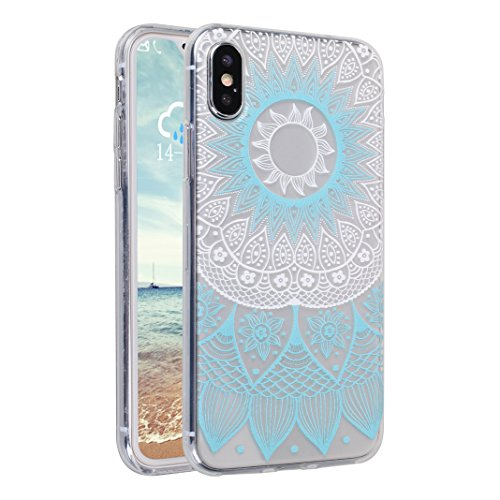 Étui iPhone X TPU Bumper, Coque iPhone X Silicone, Moon mood® Elément Protable Téléphones Arrière Étui pour Apple iPhone X 2017 Housse de Protection Couverture Cas Soft Case Cover Souple Transparente Clair Cristal AntiChoc Ultra Slim Coquille pour Apple iPhone X 5.8 pouces