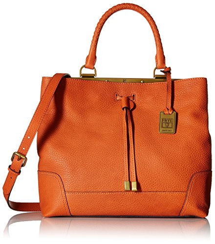 FRYE Fay Drawstring Framed Bag Orange