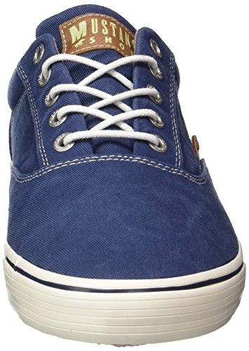 Mustang 4103-301, Baskets Basses homme Bleu - Blau (800 dunkelblau)