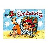 Mauder Verlag 8 Einladungskarten und Umschläge * Pirat Pit Planke * für Kindergeburtstag vom Lutz Kinder Geburtstag