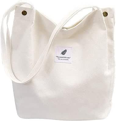 Yookeor Taschen für Frauen Stoff Segeltuch Ba Lässig Umhängetasche Handtasche große schicke Schule Rucksack für jeden Tag Büro Schulreise Einkaufen…