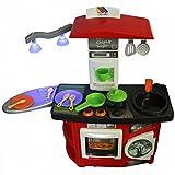 Molto Spielküche mit Lichteffekt Kinderküche ROT Waschmaschine Herd Backofen Küche Kinder NEU