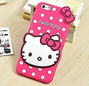 BRK Cute cartoon Hello Kitty Silicone With Pendant Back Case Cover For Oppo Neo 7 - Pink