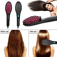 Betterhill peine de plancha para el pelo, digital Antiestát calefacción detangling cepillo de ...