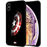 MTT Marvel Captain America Printed Mobile Back Case Cover for Apple iPhone X & Xs